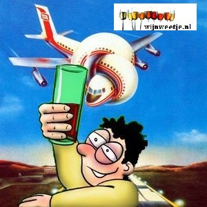 Wijn in het vliegtuig