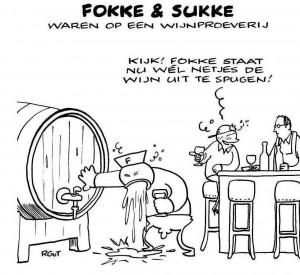 Bij wijnproeven, niet doorslikken.....