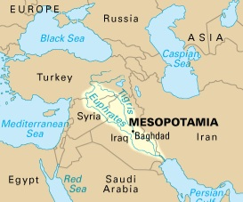 Mesopotamië het huidige Irak.